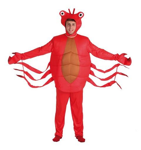 Disfraz Adulto Cangrejo Rojo