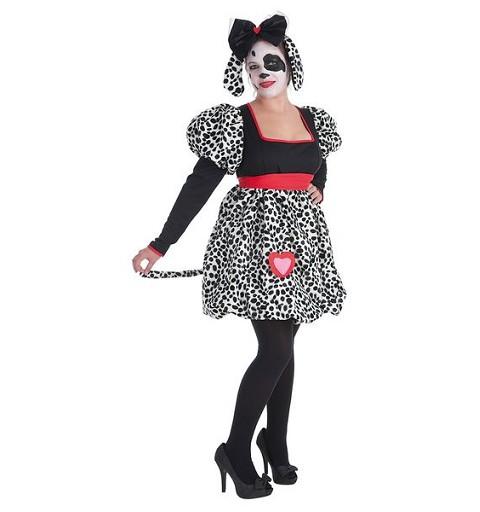 Disfraz Adulto Dalmata Corazon Mujer