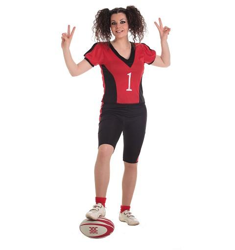 Disfraz Adulto Jugadora de Rugby