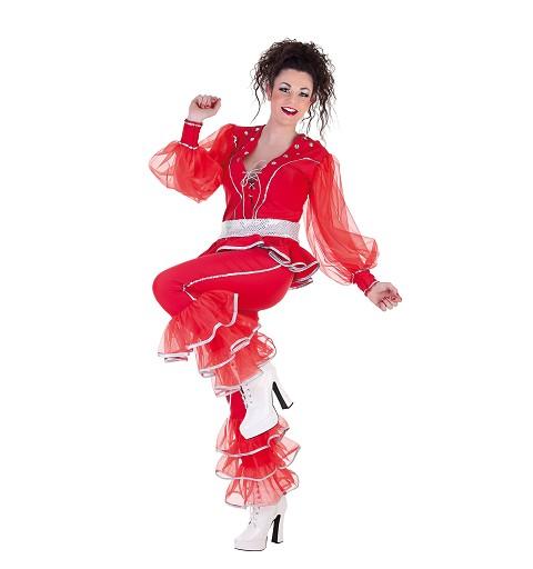 Disfraz Adulto Musical Rojo Mujer
