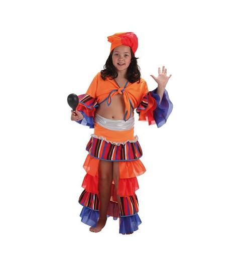 Disfraz Infantil Cubana Rayas