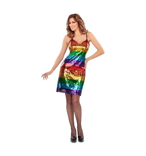 Vestido Arco Iris con...