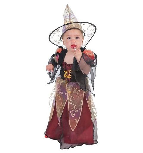 Disfraz Bruja Burdeos Bebé
