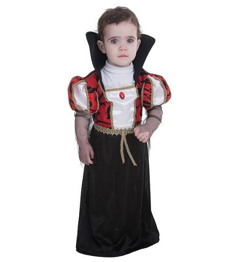 Disfraz Vampira Gótica Bebe (0 a 12 meses)