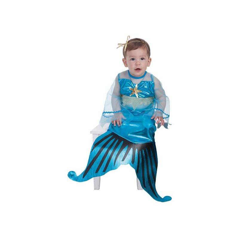 f0a43e12a Disfraz de Sirenita Azul para Bebé de 0 a 12 meses - MiDisfraz