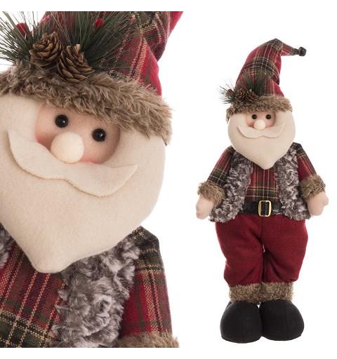 Papá Noel Leñador de Pie 45 cm