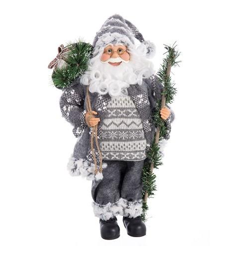 Figura Papá Noel Gris 45 cm