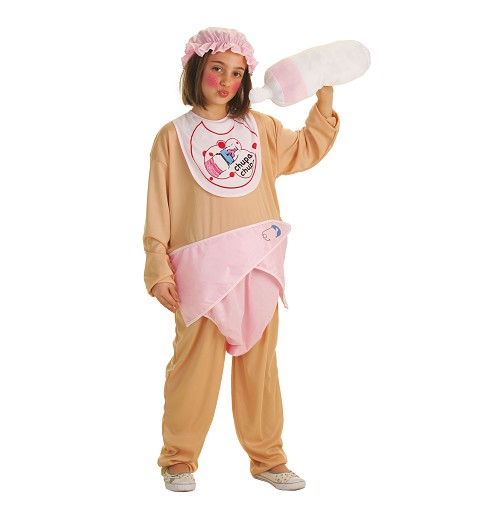 Disfraz Bebita con Biberon Infantil
