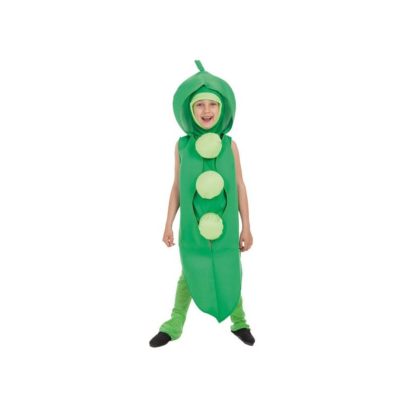 2aca99f0f Disfraz de Guisante en Vaina Verde para Niño o Niña - MiDisfraz