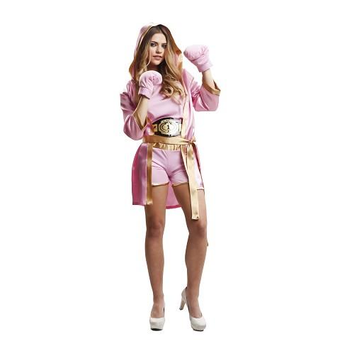 Disfraz de Boxeadora Rosa...