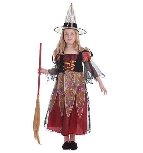 Disfraz Bruja Burdeos Niña