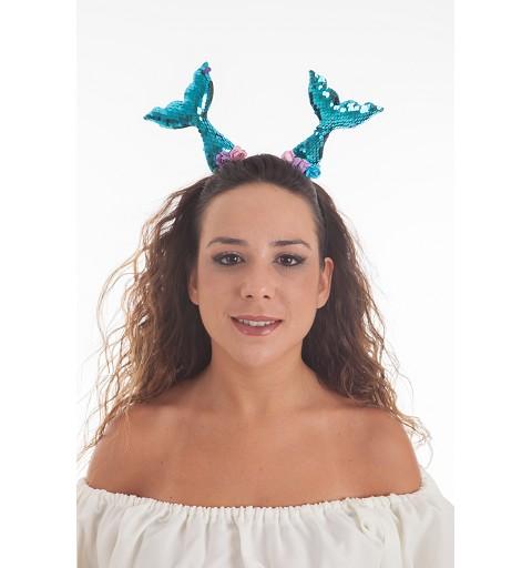 Diadema Sirena Lentejuela y...