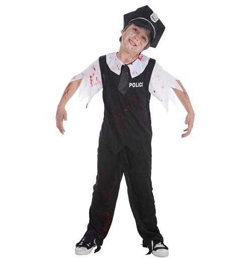 Disfraz Policia Zombie Infantil