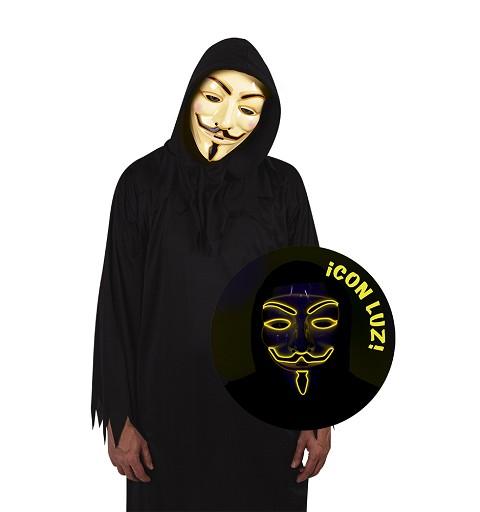 Mascara Anonymous con Luz