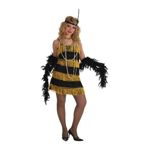 Disfraz de Charleston Oro...