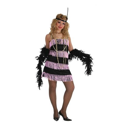 Disfraz Charleston Rosa Mujer