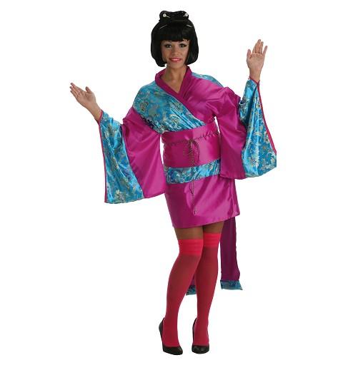 Disfraz Geisha Ikita Corta Adulto