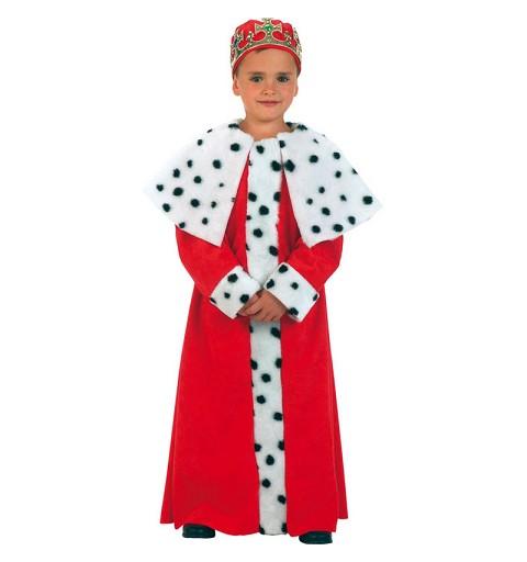 Disfraz de Túnica de Rey Mago rojo Infantil