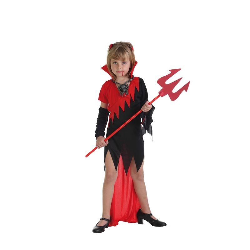 disfraz infantil diabla picos
