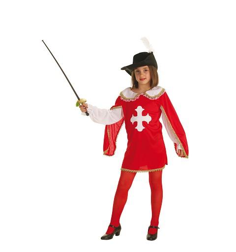 Disfraz Mosquetera Roja Infantil