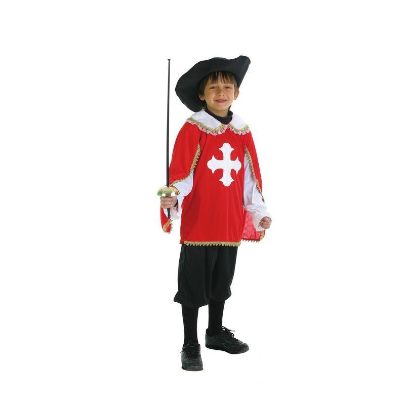 Disfraz mosquetero rojo y negro infantil - Disfraz casero mosquetero ...