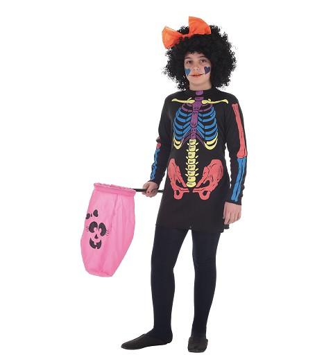 Disfraz Vestido Skeleto...