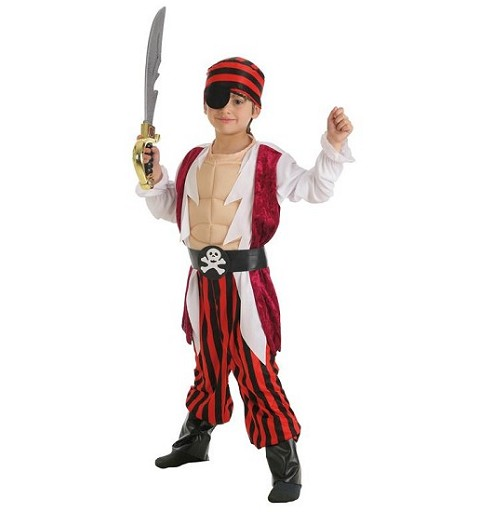Disfraz Pirata Musculos Infantil