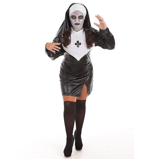 Disfraz Monja Halloween + Set Maquillaje