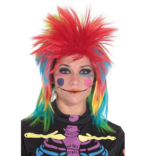 Peluca Punk Chica Multicolor