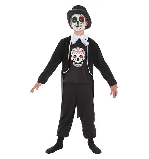 Disfraz de Calavera Mexicana Niño Infantil