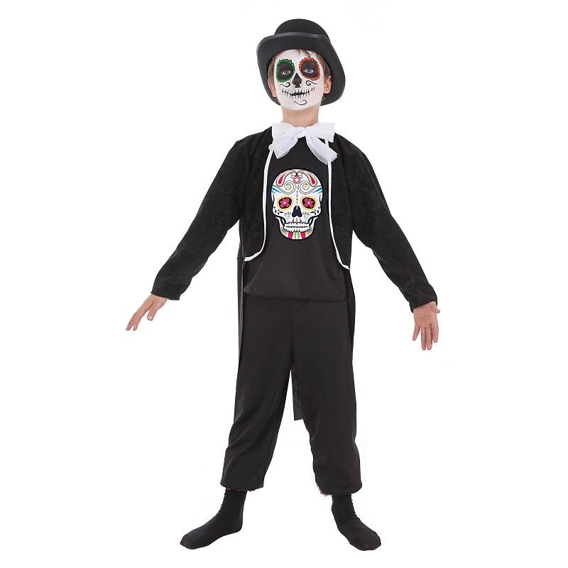 e3fcf84ee Disfraz 100% fabricado en España Disfraz de Calavera Mexicana Niño Infantil