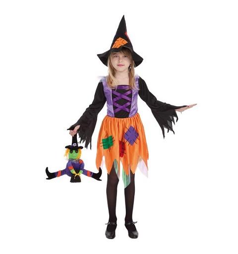 Disfraz Infantil Bruja Parches