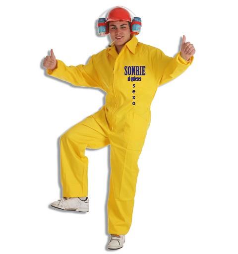 Disfraz Currante Amarillo T-L Adulto