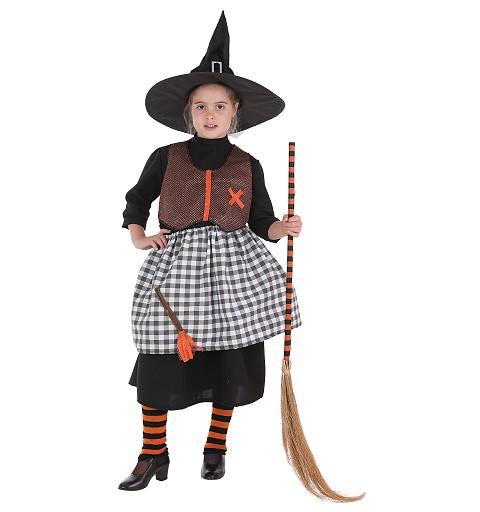 Disfraz Bruja Escoba Infantil