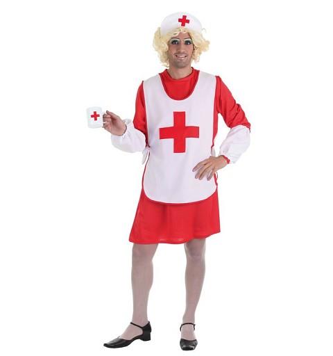 Disfraz Dama Cruz Roja T-Xl Adulto