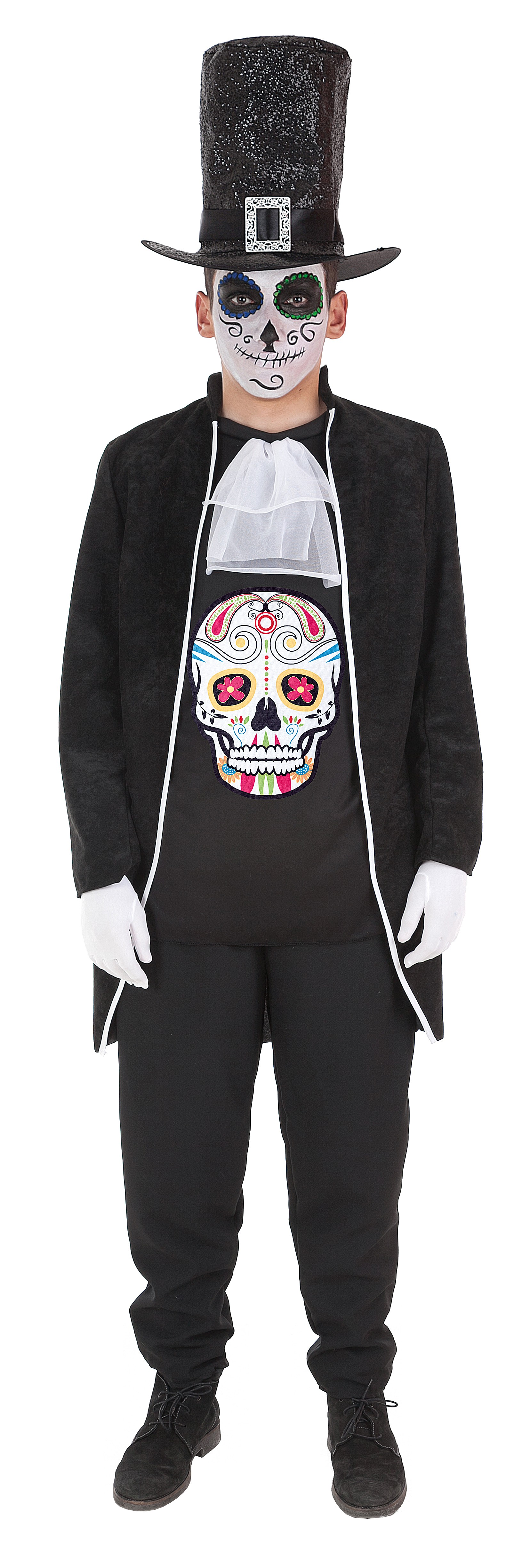 8b224b5b6 Disfraz de Calavera Mexicana con Chistera para Adulto - MiDisfraz