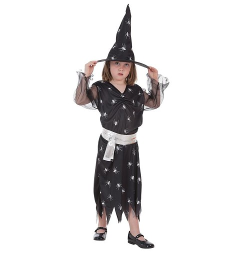 Disfraz Bruja Arañas Infantil