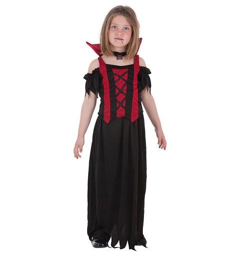 Disfraz  Vampira Alba Infantil
