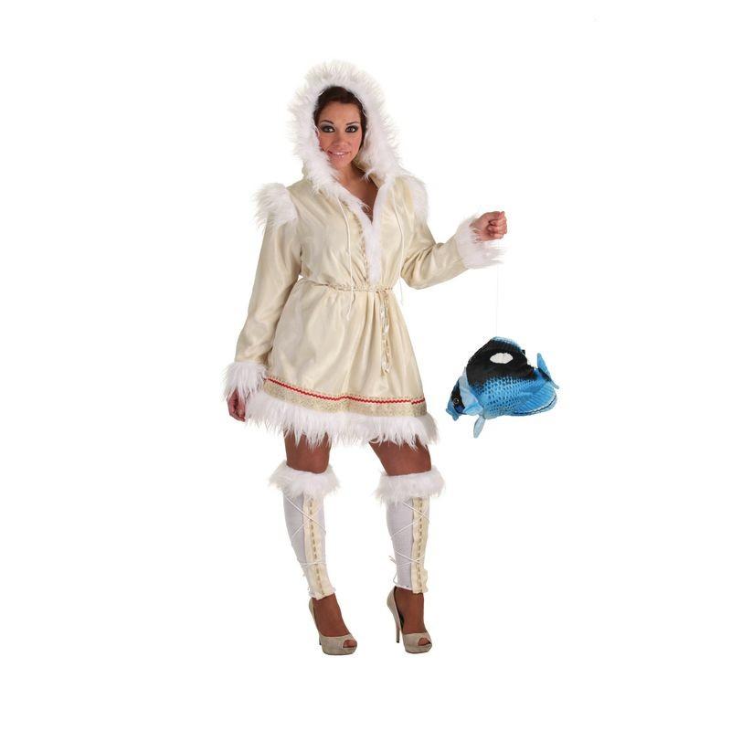 disfraz esquimal con lazo y calcetines para mujer