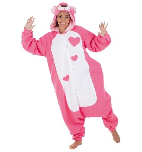 Disfraz Funny Pink Teddy Adulto T-L