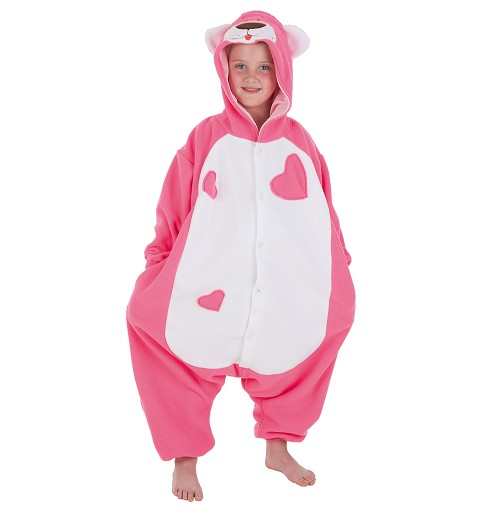 Disfraz Pijama Oso Pink Infantil