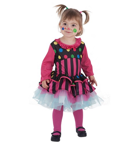Disfraz Payasa Rayas Bebe (0 a 12 meses)