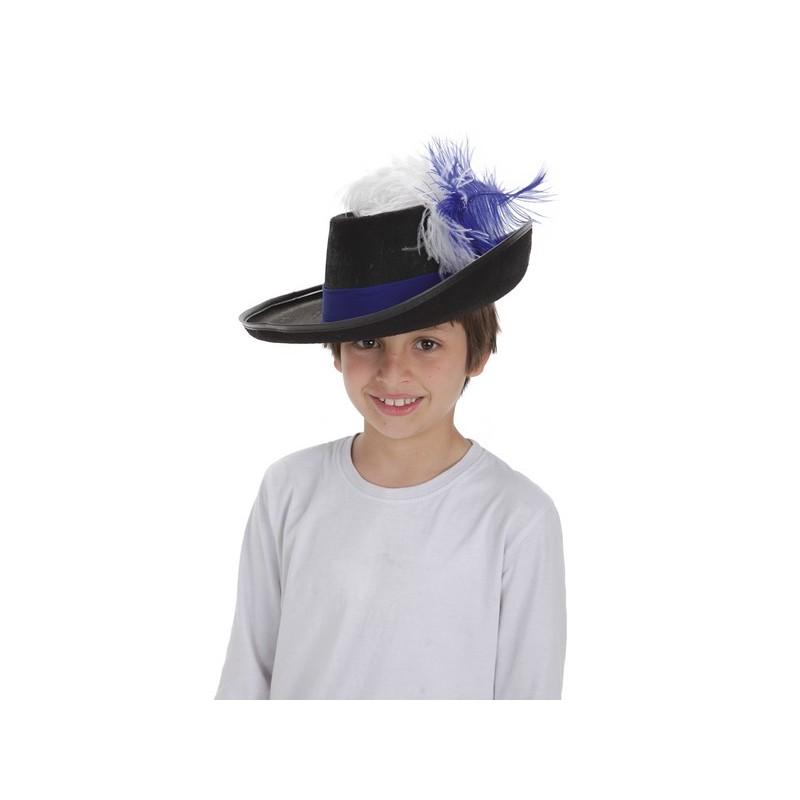 9aa561195b6f0 Sombrero de Mosquetero Clásico con Cinta y Plumas - MiDisfraz
