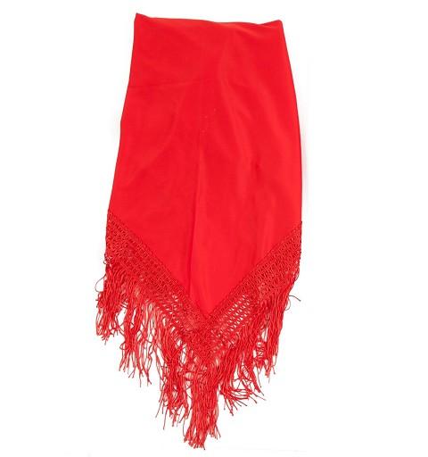 Manton Liso Rojo 1.60x 82 cm