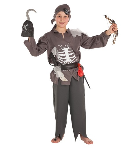 Disfraz Pirata Skelet Niño Infantil