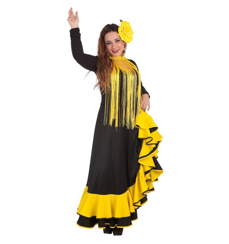 Falda Rociera Amarilla Adulto