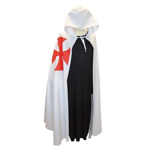 Capa Templario Blanca Adulto Talla Unica