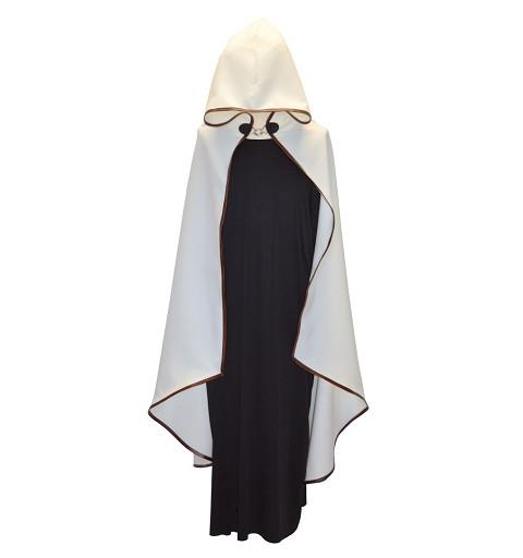 Capa Medieval Beig Ribete Piel Adulto T-Xl 8422802048011