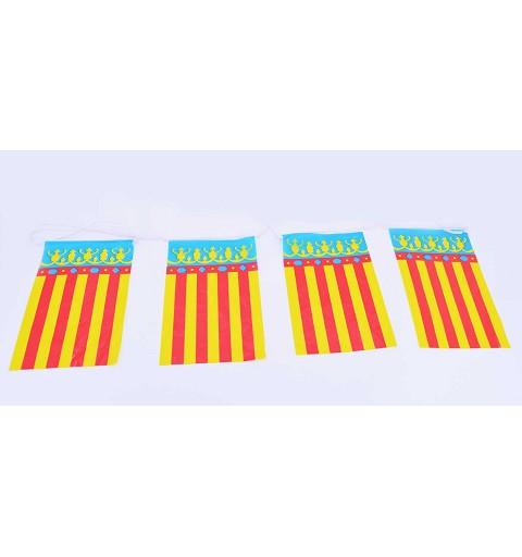 Banderin Plastico - Com. Valenciana 50 Mtrs.