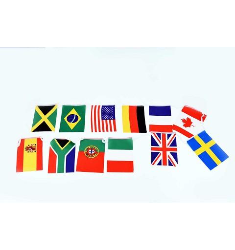 Banderas Mundo Tela 5 metros